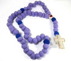 A Broken Fortress: How to Make a Felt Rosary. This is so cute!!!