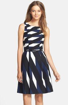 geometric print dress #nordstrom