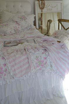 pink roses, shabby bedroom, simply shabby chic, bed sets, cottage chic