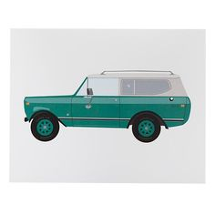 Super cool classic car print by Oh Joy for Land of Nod. Love this for a kid's room.