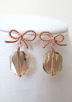 Rose Gold Bow Earring