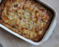 Simple Scalloped Potatoes, just five ingredients, crispy on the bottom, crispy on the top. #AVeggieVenture