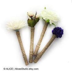 Floral Guest Book Pen  Rustic Wedding Decor by AlicesStudio, $11.50