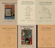 books, patterns, stitcheri pattern, primit stitcheri, book set, primit pattern, primitive stitchery, pattern book
