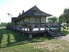 Restored train station in Saint Charles