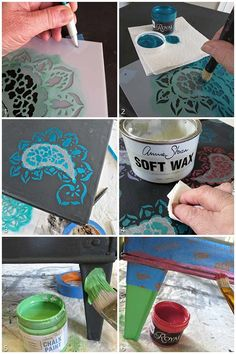 pattern, chalk paint projects, stencil