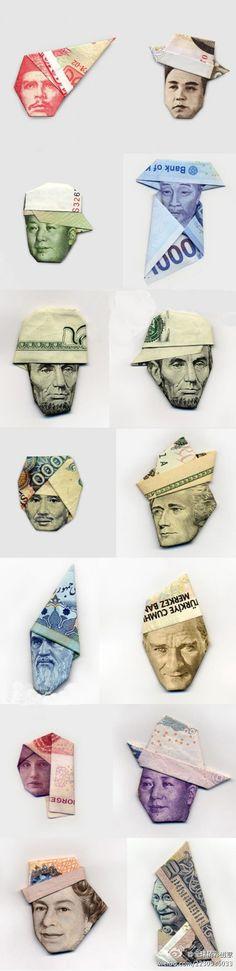 Origami money folding