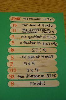 math game, math centers, group games, scavenger hunts, math vocabulary, order of operations, math activities, mental math, math skills