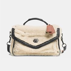 shearling messenger bag - Coach
