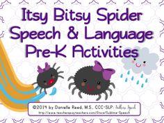 Itsy Bitsy Spider Speech & Language Pre-K Activities from @SublimeSpeech for #SLPeeps #SLP2b