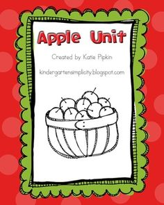 Apples / Johnny Appleseed Unit