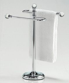 Crystal Finial Mini Towel Stand
