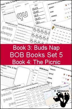 school, teaching kids to read, book set, bob books, printabl