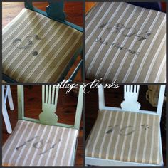 stenciling dining chairs how-to #diy