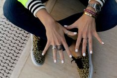 white nail polish, manicure, nail art  white nails