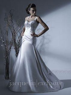 Figure flattering dress with keyhole open back Wedding Dress - 19918