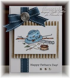"A great ""guy"" card! stamp, masculin card, fish card, father day, masculine cards, fishing cards, scrapbook cards father's day, fathers day cards, man card"