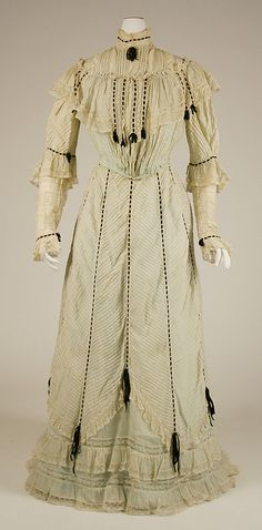 Dress, 1900, American. Cotton-silk. Vista frontal
