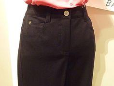Basler Pink Zebra Jeans 38 Navy