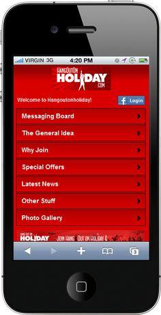 The Mobile Web App we created for www.hangoutonholiday.com    ----BTW, Please Visit:  http://artcaffeine.imobileappsys.com    ----BTW, Please Visit:  http://artcaffeine.imobileappsys.com