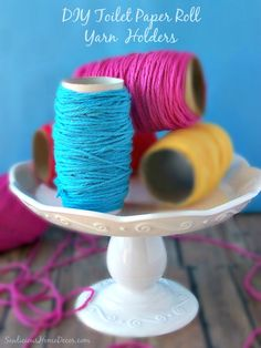 DIY Toilet Paper Roll Yarn Holders | #Recycle |http://sewlicioushomedecor.com
