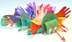 dragon craft, idea, hands, dragons, chinese new years, art, hand prints, kid crafts, preschool