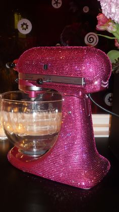 Pink bedazzled KitchenAid - so many levels of want!
