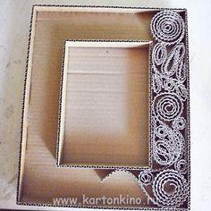 Рамка для картины своими руками из картона мастер класс