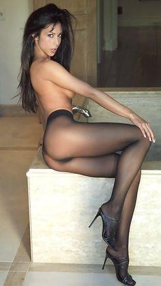 Black seamless #pantyhose #tights #collant