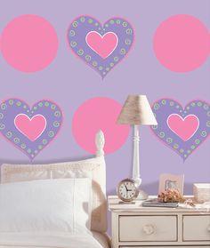 WallPops Heart of Hearts Wall Decals - http://www.wallpops.com/heart-of-hearts-purple-wall-decals.aspx #walldecals  #wallart  #peelandstick  #WallPops  #wallstickers  #decor  #DIY  #decorating