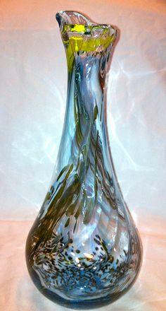 Hand Blown Glass Vase--love hand blown glass