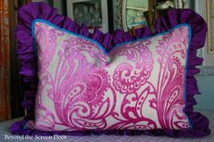 Pink Paisley Pillow