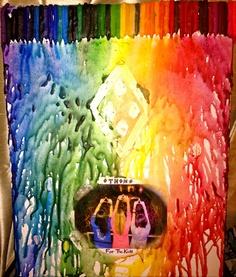 melted crayon art, melted crayons, crayon artcraft