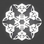 holiday, geek, craft, war snowflak, christmas, star wars, paper snowflakes, awesom, boy