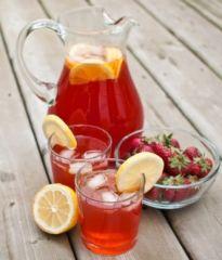 strawberri ice flavor tea ice tea iced tea