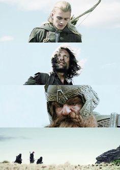 The lord of the rings - three musketeers, Legolas, Aragorn & Gimli