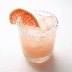 Salty Chihuahua  coarse salt (optional)  1 oz tequila  1/2 oz orange-flavored liqueur, such as Cointreau  3/4 cups grapefruit juice  grapefruit slices for garnish