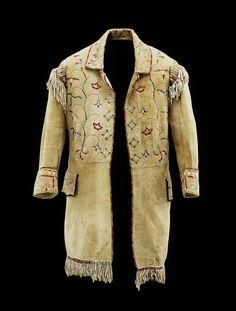 Man's Coat  (Native American)(Native American)    Date      c. 1850  Medium      Buckskin, fabric, porcupine quill