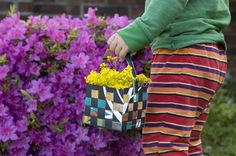 Woven May Day baskets. I am a big fan of May Day!