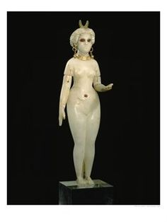 A Babylonian Alabaster Statue of Ishtar, the Goddess of Love, Dating from 350 B.C.