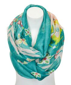 Look what I found on #zulily! Blue Ikat Infinity Scarf by Leto Collection #zulilyfinds