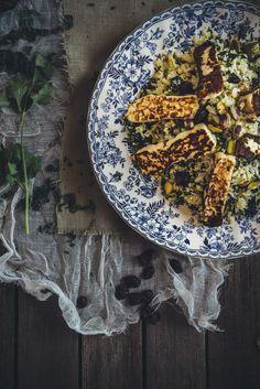 cauliflower and haloumi salad