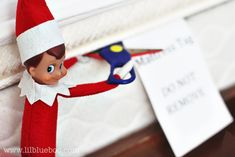 Almost R-Rated Elf on the Shelf Outtakes
