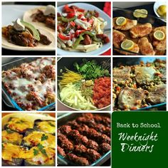 Back to School Weeknight Dinners