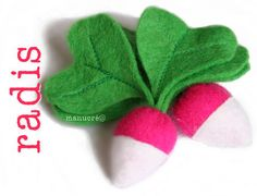 Felt radishes, and a lot of other really cute felt projects