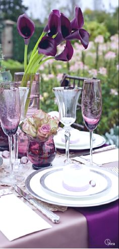 Wedding ● Place Setting ● Purple