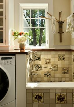pet, dog wash, wash tubs, mud rooms, laundry room design, bath, laundry rooms, shower, laundri room