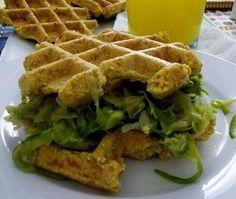 Waffles de Farinha de Grão-de-Bico