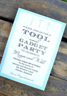Tool  Gadget Shower Invitation.