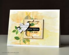 Gorgeous watercolor background card, by Tasnim